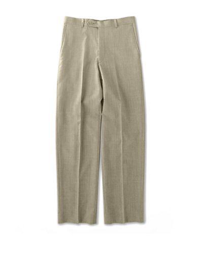 Lord & Taylor Kids BOYS 8-20 Flat-Front Wool Blend Dress Pants  Tan 16