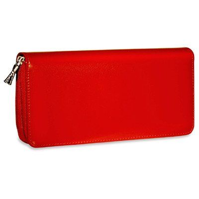 Milano Zippered Clutch Women's Wallet Color: Red