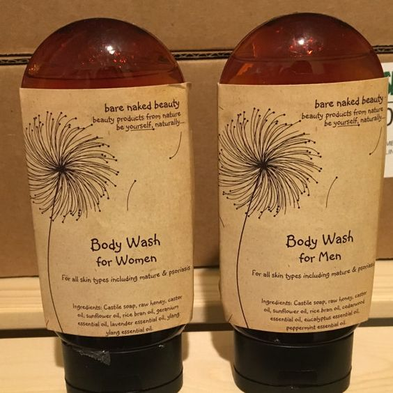 All Natural Body Wash with Honey by mybarenakebeauty on Etsy