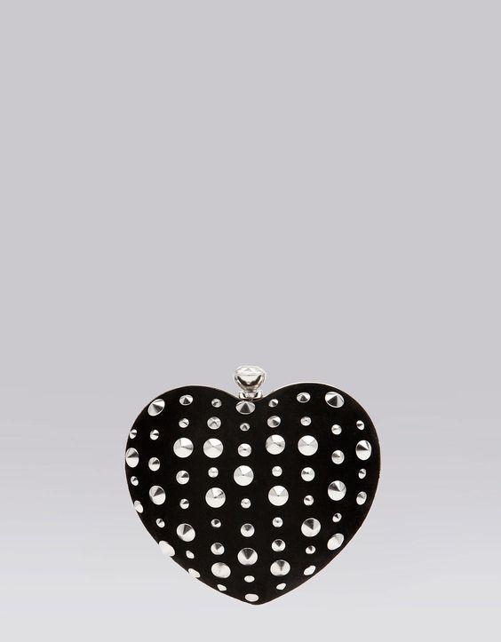 Bershka - Heart shaped box bag with studs