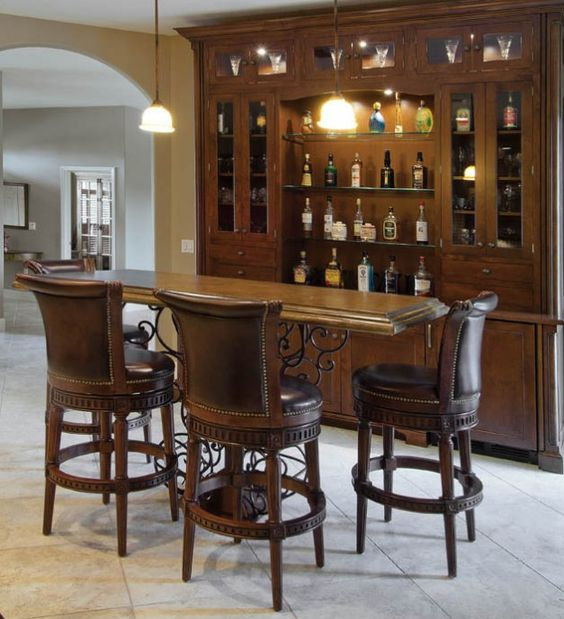 Remodeling a kitchen with tuscan flavor repurposed the for Home bar furniture china