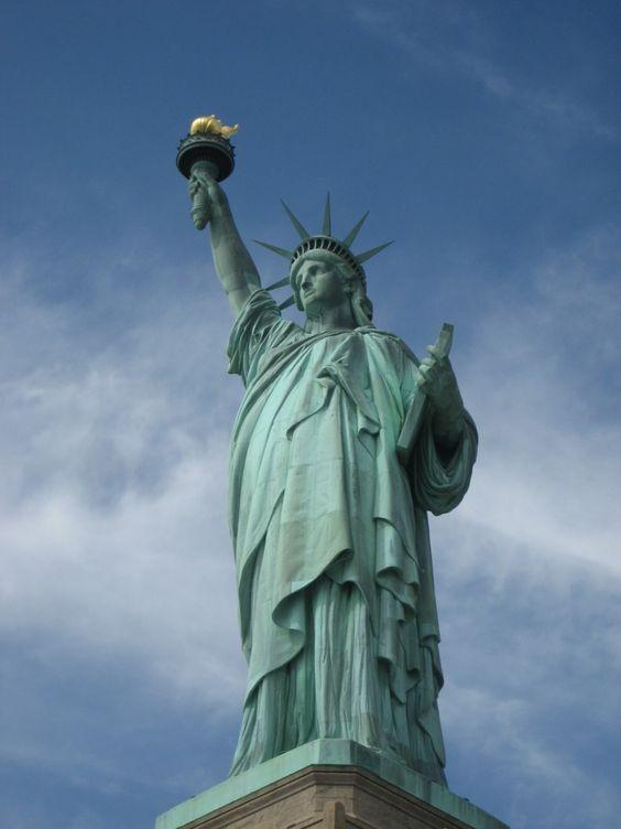Die Freiheitsstatue in New York City. New York Sehenswürdigkeiten.