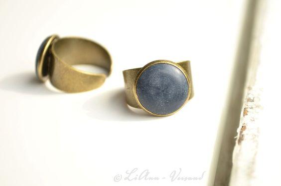 Ringe - ✼ Marineblau ✼ Ring - ein Designerstück von LiAnn-Versand bei DaWanda
