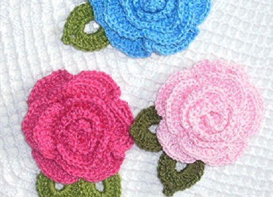Flores em Crochê com Linha Anne