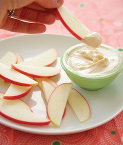 Peanut butter and Greek yogurt fruit dip. Haven't tried it with Greek yogurt... But I know reg tougher is amazing!