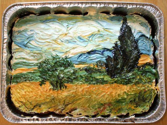 Van Gogh birthday cake