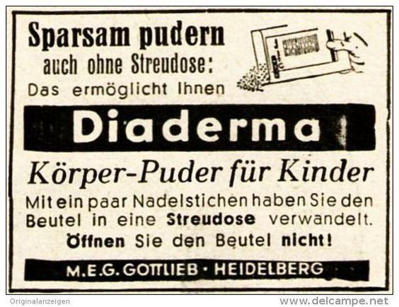 Original-Werbung/ Anzeige 1944 - DIADERMA - ca. 45 x 40 mm