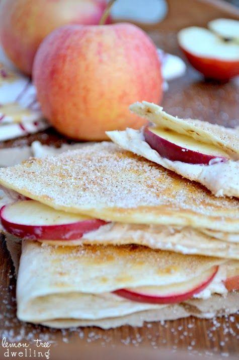 ... quesadilla burritos vanilla lemon sugar apple cheesecake quesadillas
