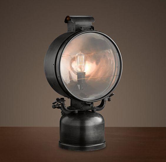 1950s British Railway Flood Lamp
