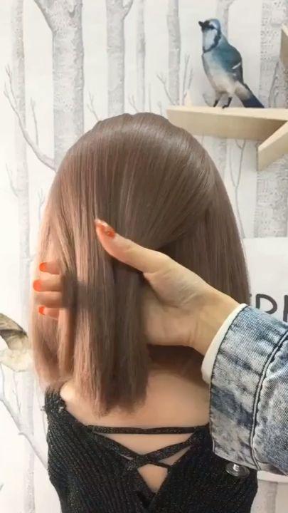 Simples Penteado Para Cabelo Curto em Menos de 3 Minutos… (Passo a Passo) – Suprimentos Maquiagem