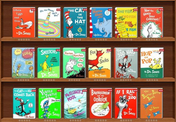 Dr. Seuss books with activities for each book.