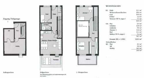 Beispiel Grundriss 4 5 Zimmer Maisonette Wohnung Maisonette Wohnung Grundriss Wohnung Wohnung Mieten
