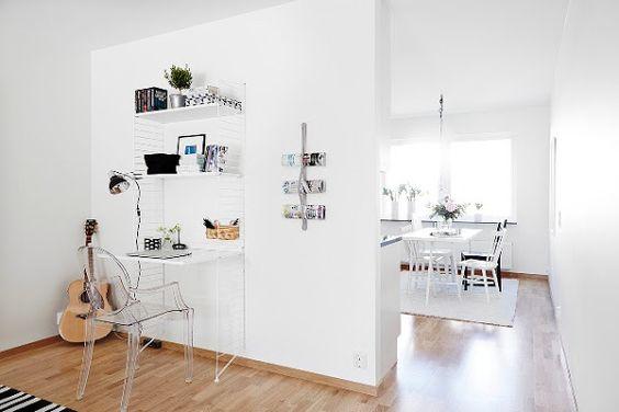 Apartamento de estilo escandinavo en blanco y gris