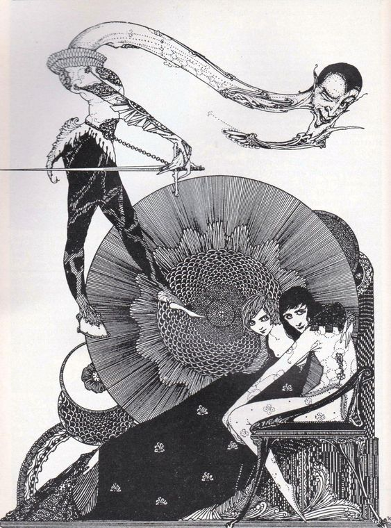 "Harry Clarke | illustration for Goethe's ""Faust"" 