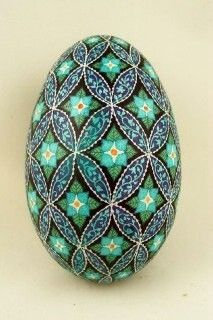 Pysanky (Ukrainian Easter Eggs) and Batik Eggs - by Dore Douty: