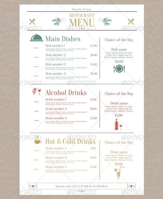 Bistro and Bar Menu Design Template by StockLayouts etiquetas - bar menu template