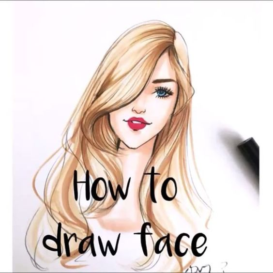fashion illustration tutorial of how to draw face by