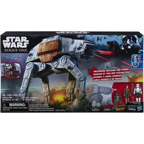 New Star Wars Rogue One Rapid Fire Imperial AT-ACT Official Images #StarWars