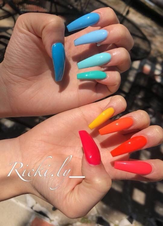 Follow Sunnyd Baby For More Bright Nails Summer Nails Colors Bright Summer Nails
