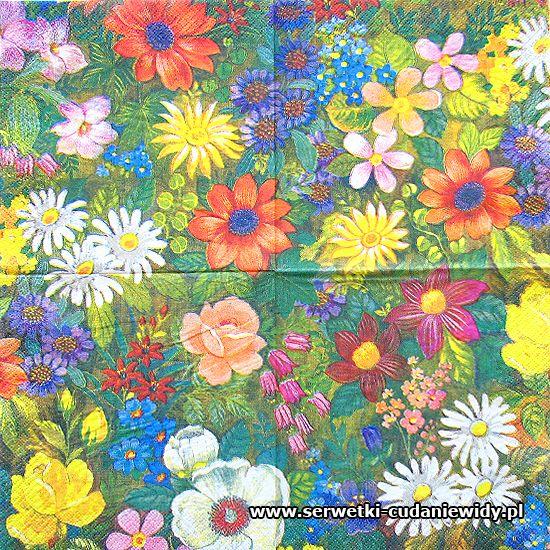 Napkins Serwetki Papierowe Kwiaty Flowers