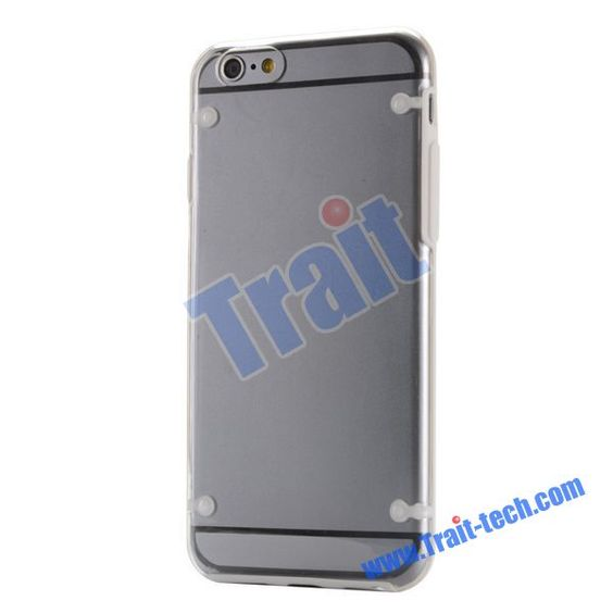 New Arrival Transparent TPU+PC Hybrid Back Cover Case for iPhone 6 4.7 inch (White)