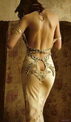 Decadent silk - sexy backless gown