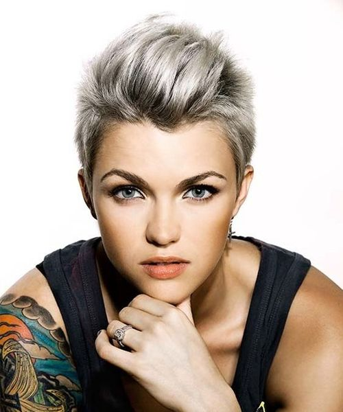 Awesome Ruby Rose Short Pixie Hairstyles Hair And Comb Short Hair Styles Short Hair Styles Pixie Ruby Rose Haircut