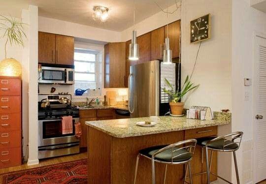 pequena #pequeña #isla #cocinas | Cocinas modernas | Pinterest ...