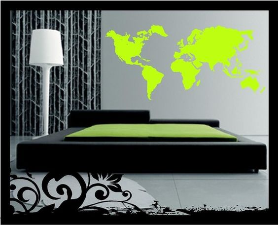 vinyl world map