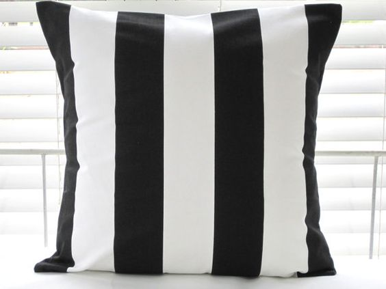 Pillows Beach Decor Decorative Throw Pillows by PillowsByJanet, $17.00: Black And White Cushions, Pillows Throw, Stripe Pillows, White Pillows