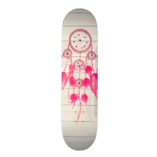 hipster girly pink elegant dreamcather skate board decks
