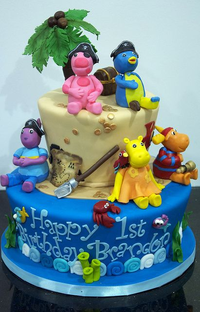 Backyardigans birthday cake cakes and cupcakes for kids for Backyardigans party decoration