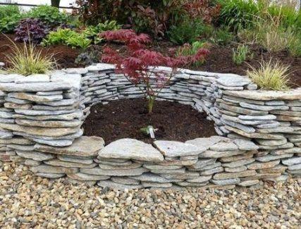 30 Trendy Wall Garden Stone Patio Garden Wall Stone Walls Garden Garden Stones Garden Landscape Design