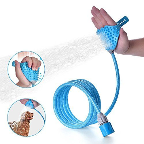 Siksin Pet Shower Sprayer Pet Bathing Tool With Massage Brush