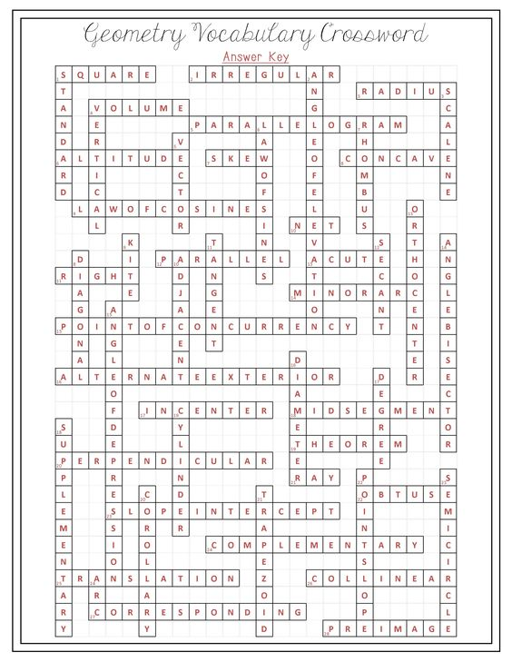 worksheet : 7th grade common core math vocabulary 1 crossword grade ...