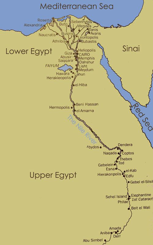 Howancientegypt Cities In Ancient Egypt Experience Ancient - Map of egypt with cities
