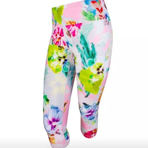 Fierce floral tights @runningbare