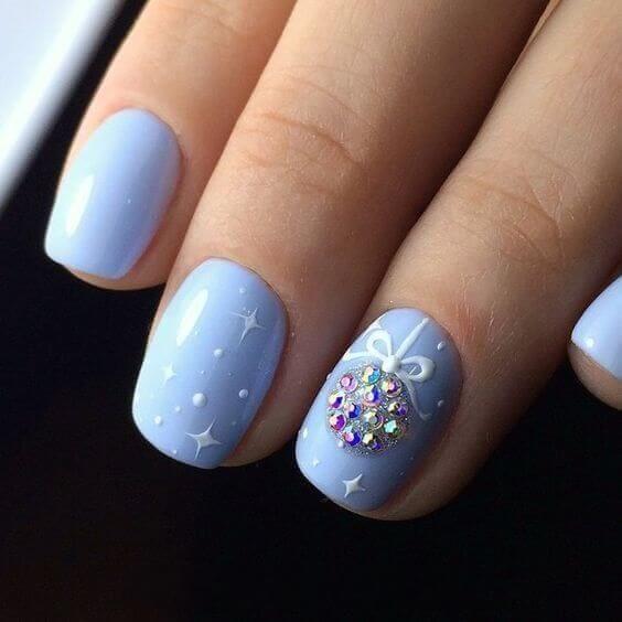 50+ Elegant Baby Blue Nail Designs