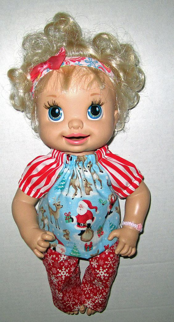Baby Alive Real Suprises Doll Clolthes Santa And Reindeer