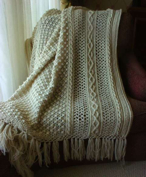 Free Crochet Patterns Fisherman Afghan : crochet afghans...winter craft Crafty and Tasty Arts ...