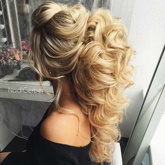 Big, Curly Half Up Hairstyle