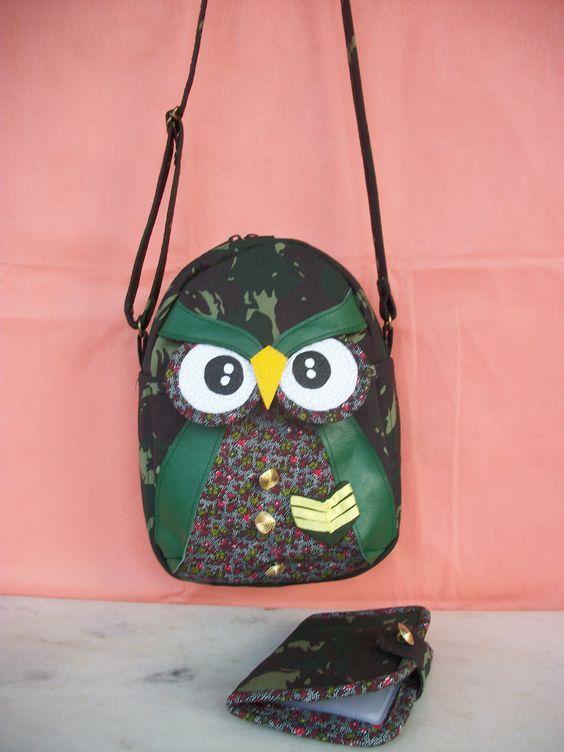 Bolsa tiracolo + Porta documentos Alt.25cm Larg.19cm facebook:Arts Nancy