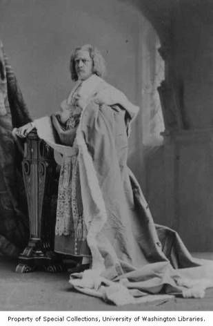 Edwin Booth in the role of Richelieu from a production of RICHELIEU; OR THE CONSPIRACY, ca. 1881 :: 19th Century Actors Photographs