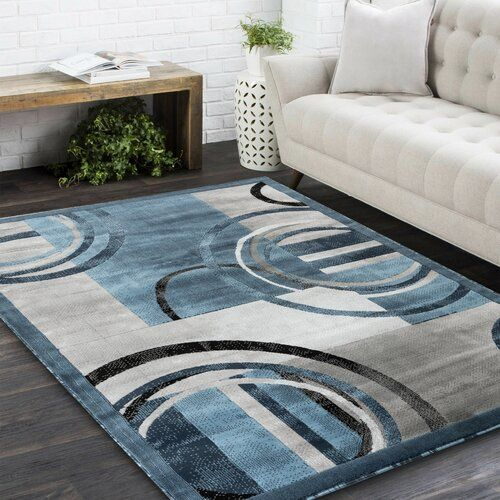 Delana Abstract Blue Gray Ivory Area Rug In 2021 Rugs On Carpet Rugs Area Rugs