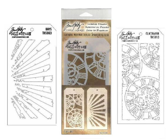 Clockwork Rays Tim Holtz Stampers Anonymous Layering Stencils New | eBay