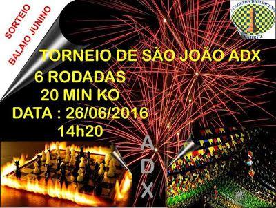 Núcleo Enxadrístico de Macaíba: São João na ADX !!!