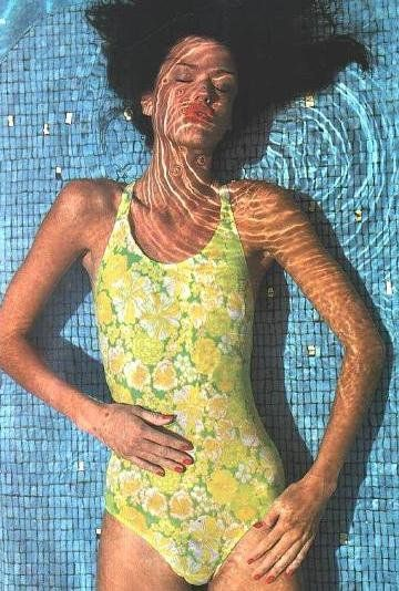 Janice Dickinson, Barry Lategan, the Great Bahama, 1975