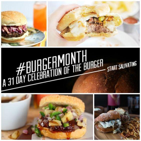 BurgerMonth Round Up || 33 Epic Burger Recipes