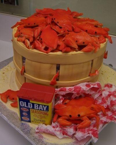 BUSHEL OF MD BLUE CRABS By KATHYMEKB on CakeCentral.com: