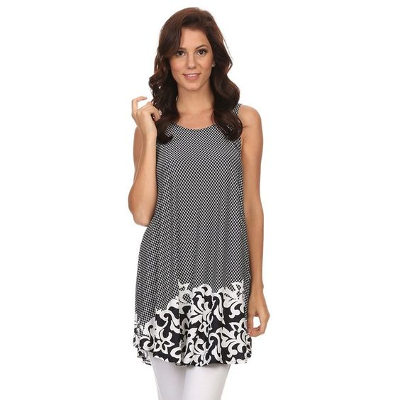 Women's Sleeveless Border Top